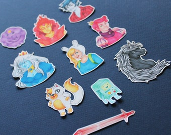 Fionna and Cake - Adventure Time Sticker Pack - Mini