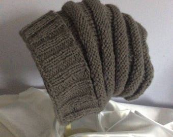 Hand Knit Slouchy Winter Hat