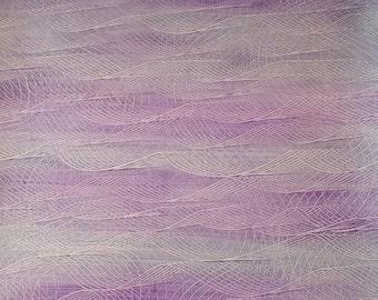Paste Paper Sheet - Purple & Gray Wave Series