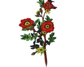 Embroidered flower patch applique vintage fashion patch coat or jacket decoration patch