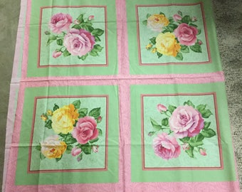 GORGEOUS Rose Pillow Panel!
