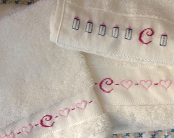 Hand embroidered baby items