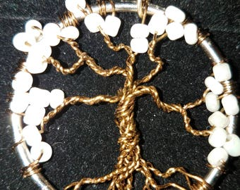 Tree of Life Necklace white