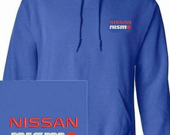 NISSAN NISMO  Emboidered Royal Blue Hoodie Pullover Hooded Sweatshirt New