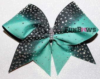 Gorgeous Rhinestone Ombre Allstar Cheer Bow by FunBows !