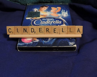 CINDERELLA scrabble letters sign Recycled