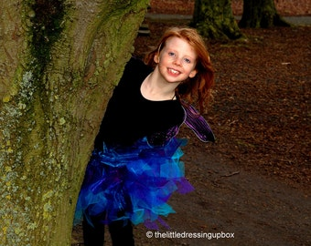 Childrens Purple & Blue TUTU Skirt 2-12 years Dance Dressy Up Halloween Party