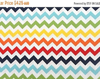 ON SALE Riley Blake Fabric - 1 Fat Quarter Small Chevron in Rainbow