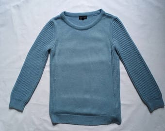 Vintage blue chunky knit Sweater small
