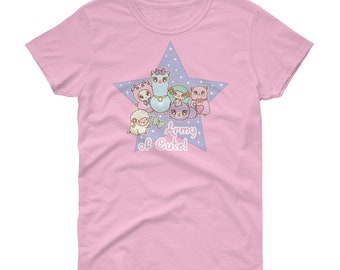 Army of Cute alpaca sheep ram fairy kei decora short sleeve t-shirt tee adult--small to plus size choose color