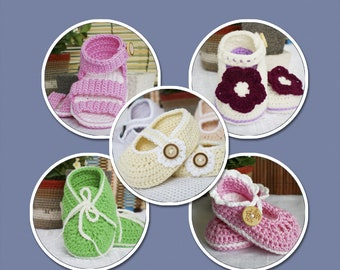 Baby Booties for Girl- Singles