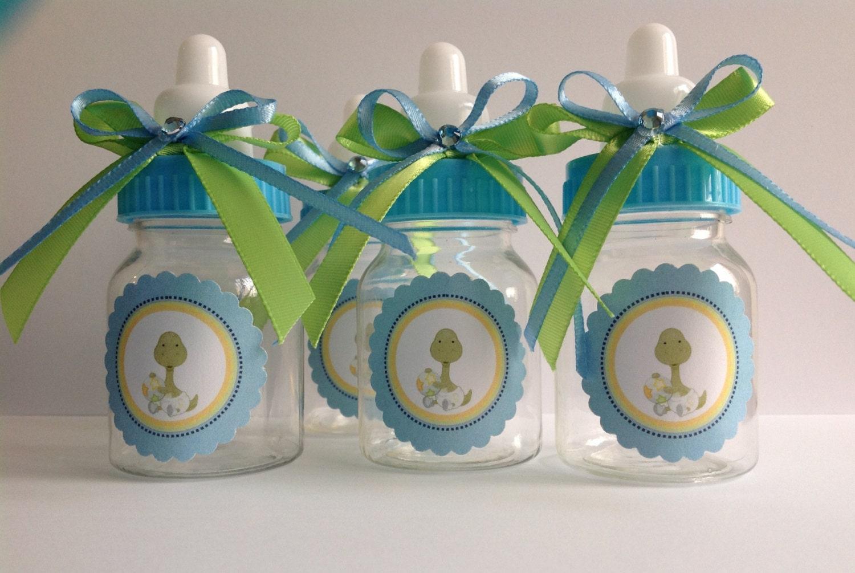 12 small 35 Baby dinosaur bottles baby shower favors