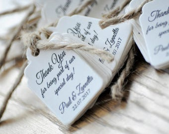 20x Mini Thank You Tags Favour/Wedding Tags