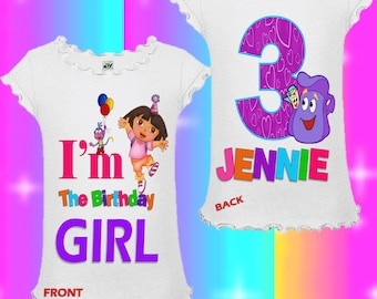Dora Birthday Shirt - Dora the Explorer Birthday Shirt