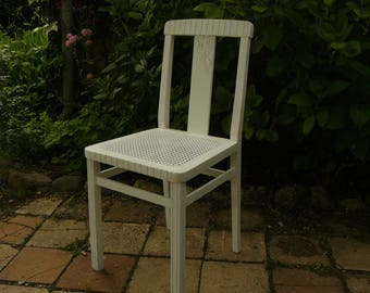 Chair 30s Chania, revamped white patina