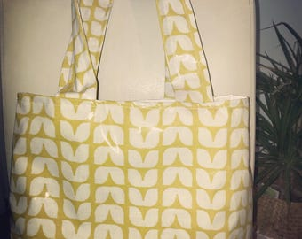 Tulip Oilcloth Tote Bag