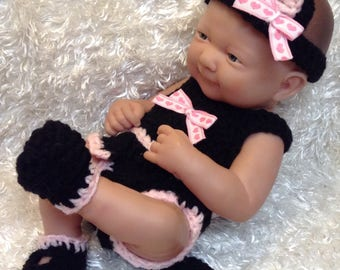 14 Inch Doll clothes,9 inch  doll clothes,Black Kitten/Cat Set