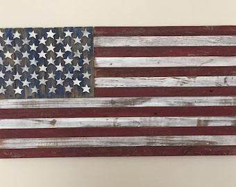 Barn wood American flag