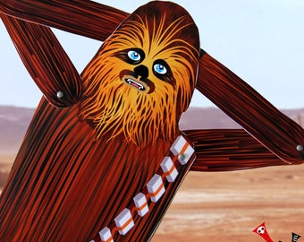Chewbacca Star Wars tribute fan art paper doll assembled articulated Chewy wookiee