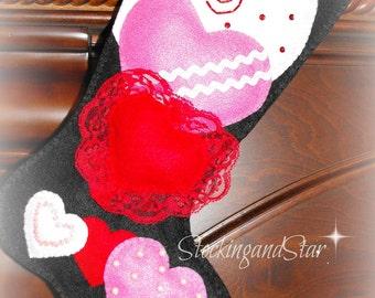 Valentine Mantle Decor, Valentine's Day, Valentine Card Holder, Valentine Box, Valentine Stocking, Heart Decor, Valentine's Day Gift, Love
