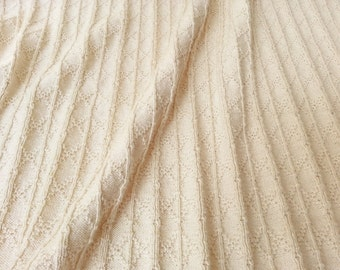 Natural White Cotton Textured Sweater Knit by the Half Yard - Hudson Knit