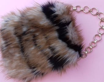 Faux Fur Purse in Exotic Color / Birthday's Gift Idea / Wedding accsesories / Chic bag / Easter / Original Gift Idea