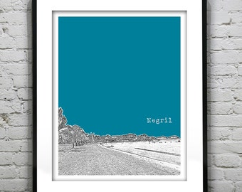 Negril Jamaica Poster Art Print Skyline Tropical Beach Honeymoon