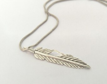 Karen Hill Tribe Silver Feather Pendant - Karen Hill Tribe Silver Pendant
