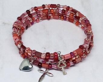 Christian Jewelry Bracelet, Christian Jewelry, Christian Jewelry for Women, Memory Wire Bracelet, Cross Bracelet, Confirmation Jewelry