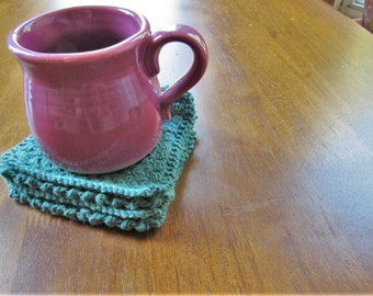 Blue Basketweave Coasters