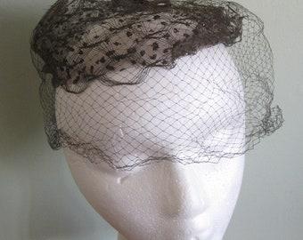 Vintage Women's Veil Black