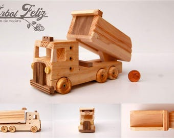 Wooden small Truck / Wooden Toy / Wooden Gift for Kid