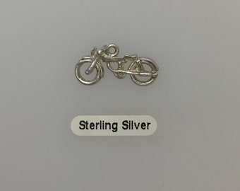 Vintage Motorcycle Charm - Sterling Silver.