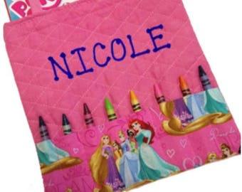 Disney Princess Personalized Coloring Tote