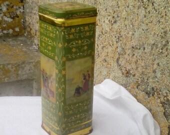 Vintage French storage tin, chicorée coffee tin.