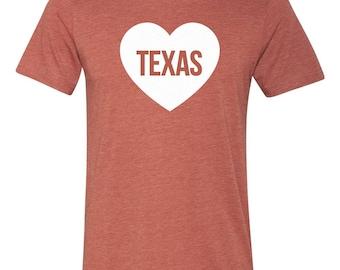 Texas Longhorns Heart Love T-shirt