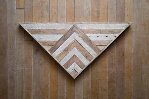Wood Wall Art |  Reclaimed Wood Wall Art | Wood Art | Rustic | Wood Decor | Geometric Wood Art |Wood Triangle | Farmhouse | Reclaimed Wood |