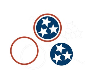 Tennessee SVG & Studio 3 Cut File Outline Design for Silhouette Cricut Files Cutout Decals Logo Svgs Stars Decal Logo 3 Star Flag TN Tristar