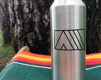 Camp SoDak Beer Pint Cup - South Dakota Tall Boy 16oz Stainless Steel Pint by Oh Geez! Design - SoDak Camp Cup - SoDak Reusable MiiR Pint