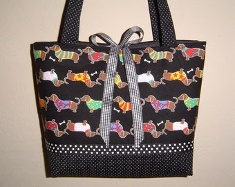 DOXIE DACHSHUND PARADE Purse Handbag