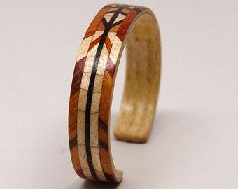 Cuff Bracelet #2, Wooden, Cuff, Bracelet, Eco, Minimalist, Modern, Jewelry, Anniversary Gift, Wood Jewelry, Mens, Womens, Unisex