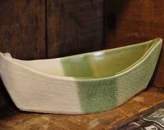 Dory Dip Boat in Spearmint by Village Pottery PEI