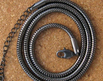 "Gunmetal 20"" Chain - Jewelry Supply - Calypso Necklace - Gunmetal Necklace"