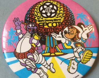 Epcot Center 1982 pin featuring Mickey Mouse and Figment