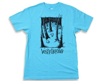 """NORA-INU """"Lost and Unfound"""" Graphic Tee - L BLUE"""