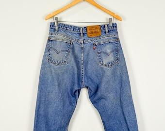 Orange Tab Levis Jeans 34, Vintage Clothing, Boyfriend Jeans, Faded Jeans, Baggy Jeans, Grunge Clothing, Vintage Jeans, Distressed Levis