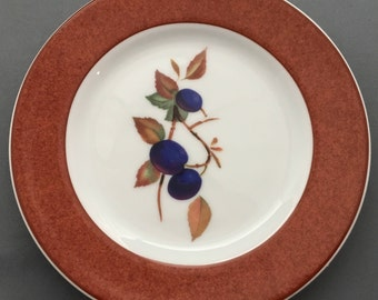 Royal Worcester Evesham Colours Terracotta Tea / Side Plate