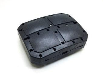 15cm x 12cm minaudiere box clutch hard plastic clam shells, whole plastic covers, M99