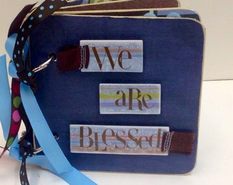 We are Blessed brag book premade pages family mini scrapbook album