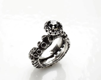 Octopus Ring Octopus Jewelry Tentacle Ring engagement Ring Tentacle Wedding band  Octopus Engagement ring by Zulasurfing